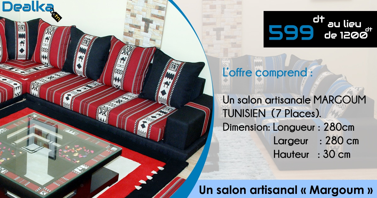 Un salon artisanal margoum dealka for Salon artisanal
