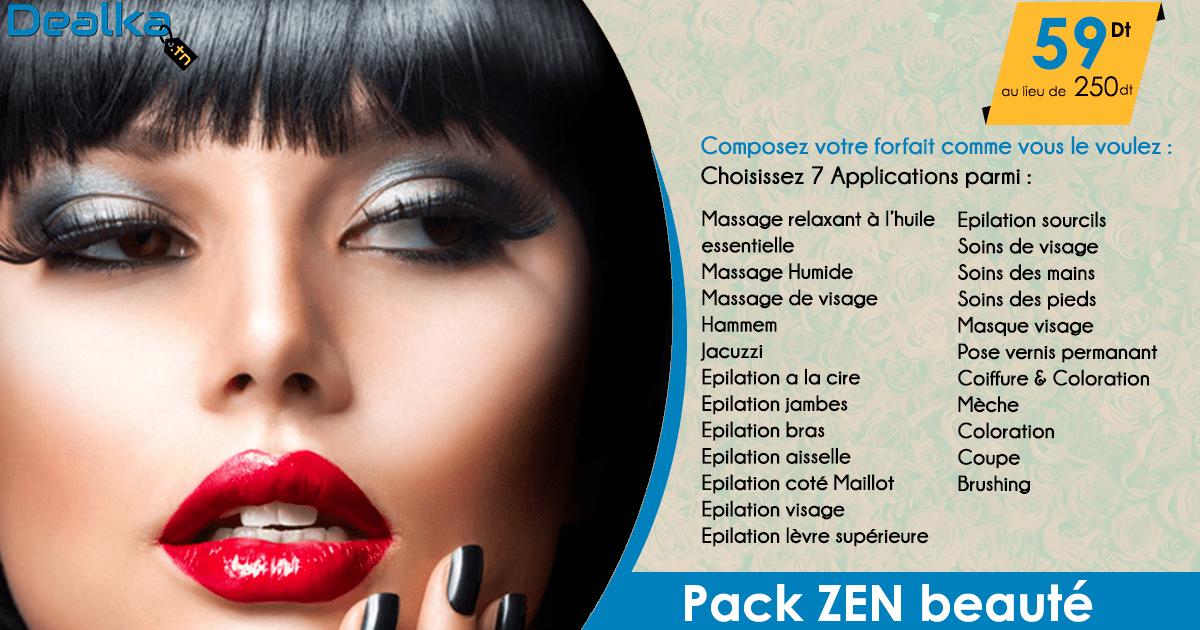 Pack zen composez votre forfait beaut et soins au choix chez magestic centre 59 dt - Masque visage a mettre au frigo ...