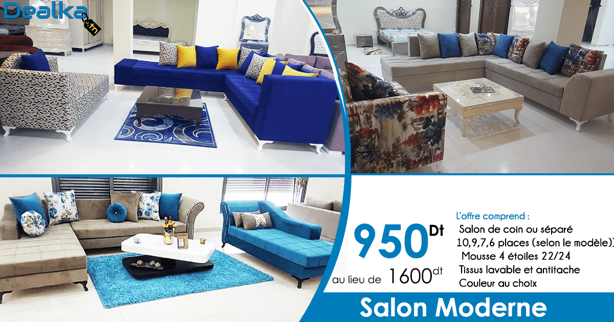 Salon Moderne et Chic à seulement 950Dt. – DEALKA